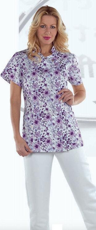 Casaca Geneve Purple Flowers 100% Microfibrana.