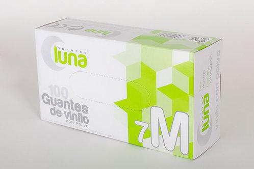 Guante Vinilo Sin polvo. Caja 10 dispensadores de 100 guantes (Caja 1000 Uds.)