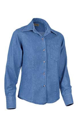 Camisa de mujer en tejido demin  100% algodón