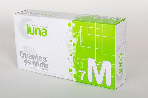 Guante Nitrilo Blanco Sin Polvo. Caja  10 cajitas de 100 guantes (1000Uds)