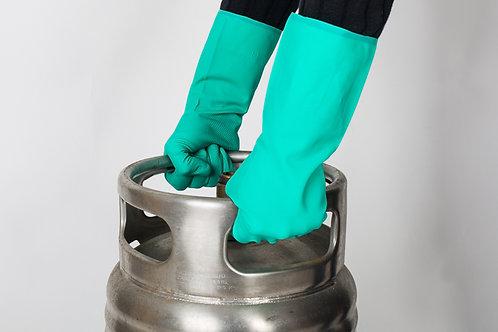 Guante  Nitrilo Industrial Verde ( Bolsa 12 Pares)