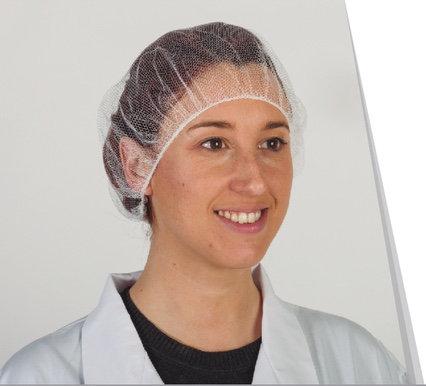Gorro de rejilla Nylon blanco.Caja 1.000 Unidades