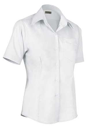 Camisa de mujer corte entallado  65% poliéster 35% algodón