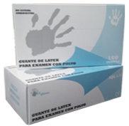 Guantes de látex natural con polvo. Caja  10 Cajitas 100 Guantes (1000 uds)