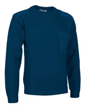 Jersey con cuello redondo en tejido punto grueso