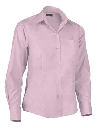Camisa de mujer en tejido popelín ligero  65% poliéster 35% alg