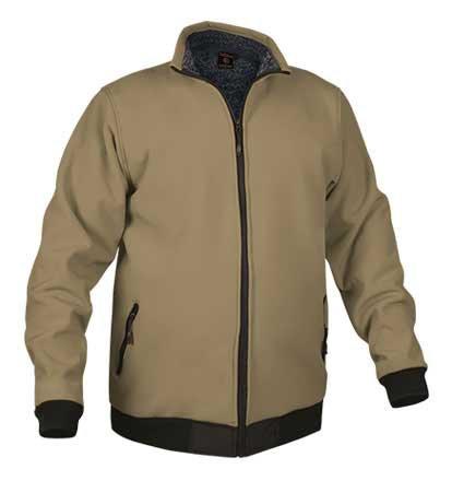 Chaqueta de abrigo tejido softshell 90%poliamida 10%elastano