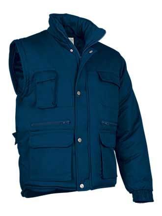 Chaqueta de abrigo 2en 1 tejido sarga con relleno acolchado
