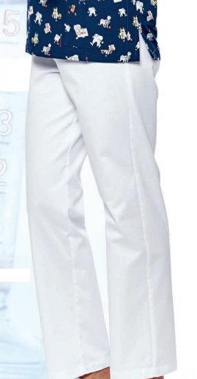 Pantalón mujer Santander blanco Slim Fit sin bolsillos