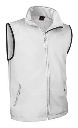 Chaleco bicolor tejido softshell 90% poliamida 10% elastano