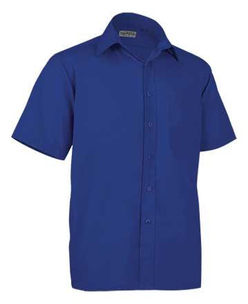 Camisa de corte clásico en tejido popelín ligero  65% poliéster 35% algodón