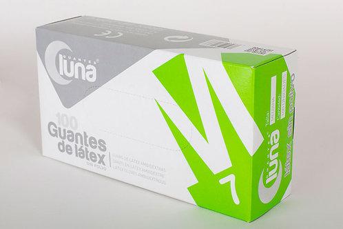 Guante de Latex con polvo. Caja 10 cajitas dispensadoras de 100 guantes(1000Uds)
