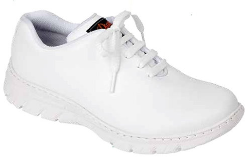Zapato  tipo blucher cierre cordones,blanco