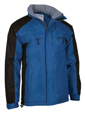 Chaquetón de abrigo impermeable colores combinados
