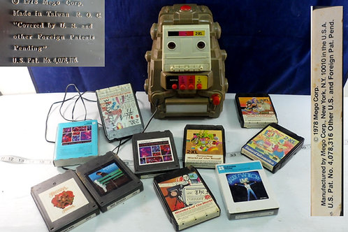 1978 Mego 2- X L Robot Plus Six 10 Track Tapes Works