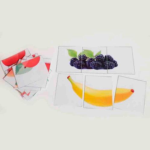Salada com três frutas