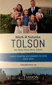 Mark Tolson Sept. 2020 Prayer Letter