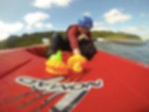 kids kayaking cork