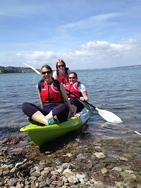 ladies kayaking and aerobics cork