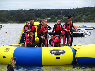 water trampoline, Cork, Cork harbour, Ireland, eco adventures