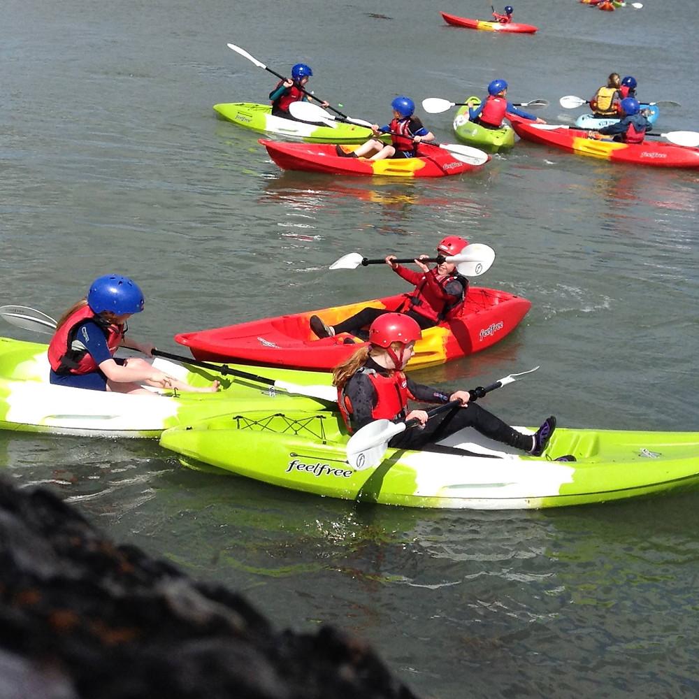 Kayaking games at Aghada pier, Cork