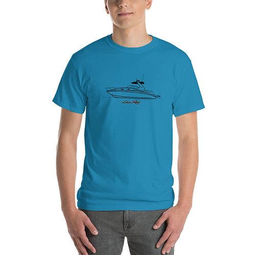 Sea Ray 320 Line Drawing Short Sleeve T-Shirt