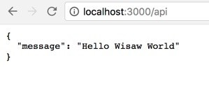 WiSaw on localhost