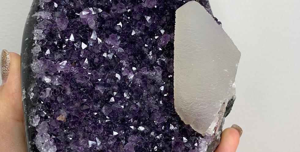 Amethyst/ calcite freeform
