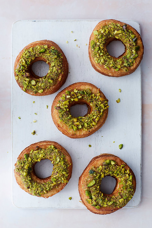 Pistachio & Salted Caramel Cronuts (Box of 5)