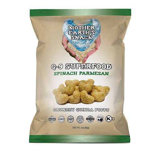 Q-9 SuperFood Spinach Parmesan Puffs (6 in a pack)