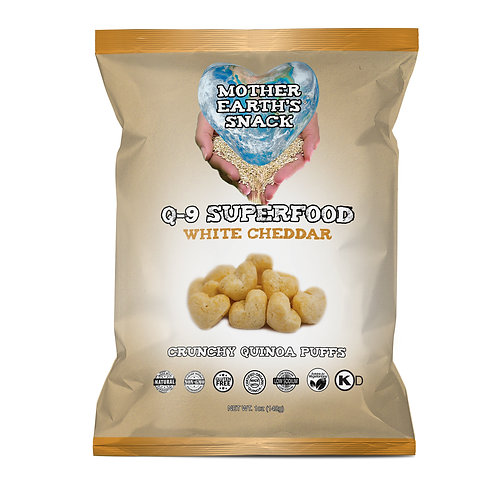 Q-9 SuperFood White Cheddar Puffs (6 in a pack)
