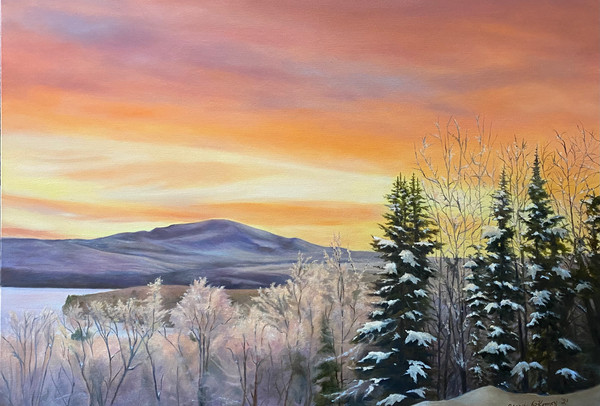 February Painting - February Sunrise