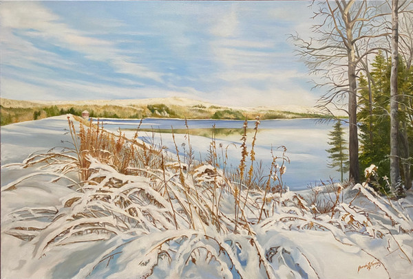 January Painting - Winter Walk