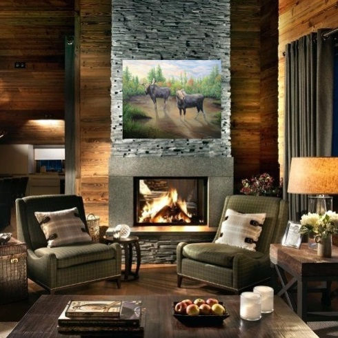 Tryst at Evenfall over Fireplace