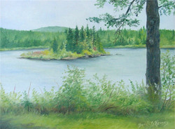 Island at First Lake