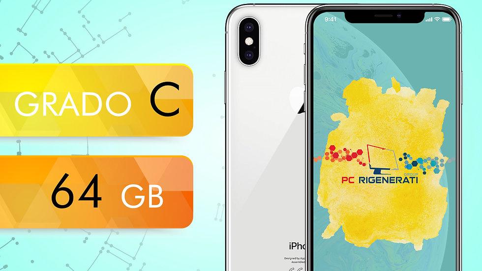 iPhone XS 64 SILVER Grado:C