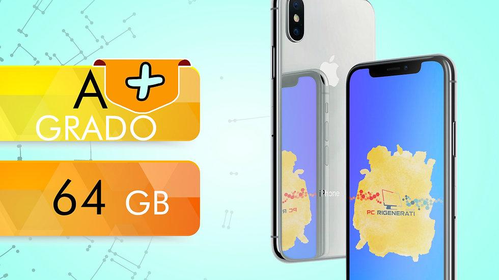 iPhone X 64 SILVER Grado:A +