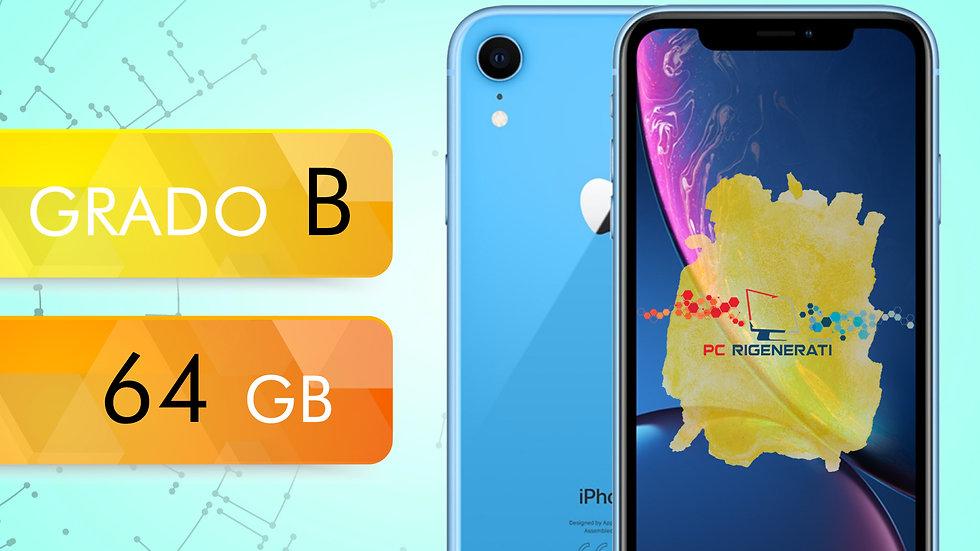 iPhone XR 64 BLU Grado:B