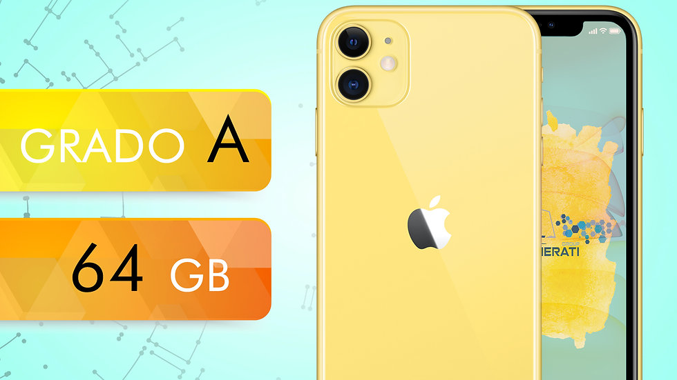 iPhone 11 64 GIALLO Grado:A