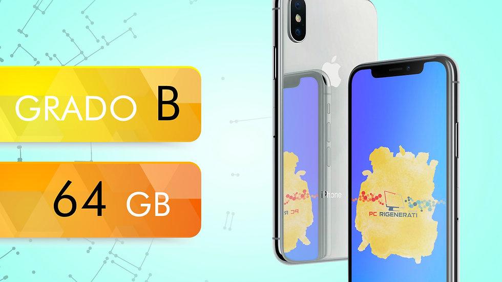 iPhone X 64 SILVER Grado:B