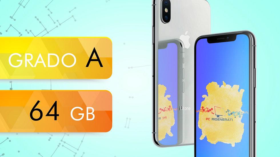 iPhone X 64 SILVER Grado:A