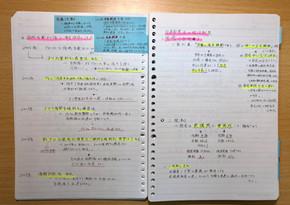 勉強する人のノートの取り方