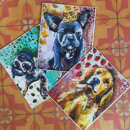 Louisiana Pupper Prints (Series of 3)