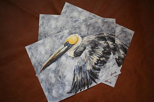 """8x10"""" Soaring Pelican Print"""