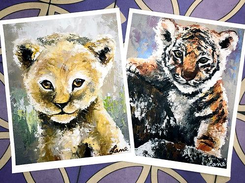 Tiger & Lion Prints