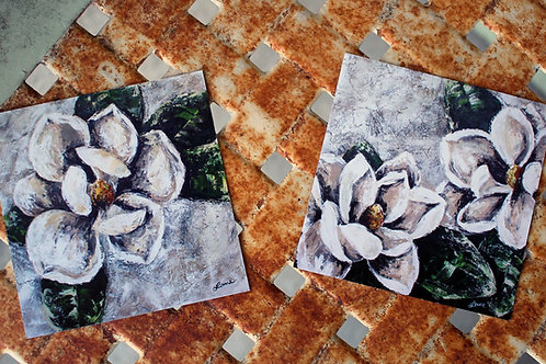Magnolia Magnets (Set of 2)