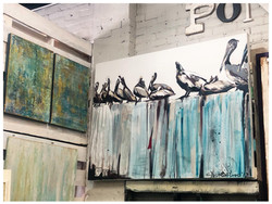 Fine Art by Julie Ribando (Left) & Caroline Youngblood (Right)