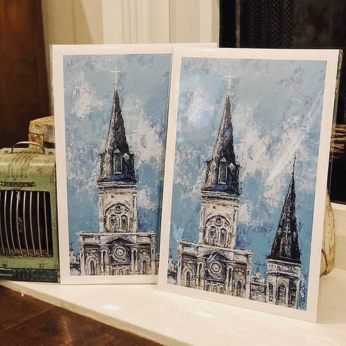 """12x18"""" St. Louis Cathedral Print"""
