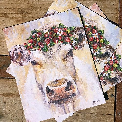 "8x10"" Strawberry Cow Print"