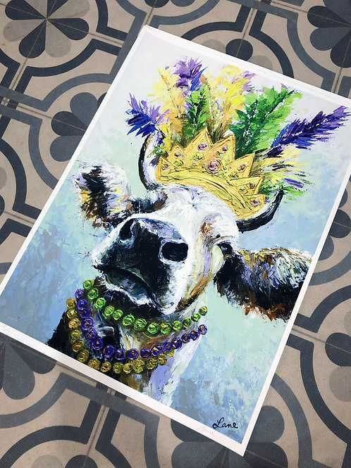 """Limited Signed Number Krewe of Moo Print - 18x24"""""""